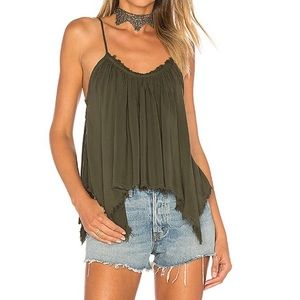 NWOT BLUE LIFE Thalia Cami in Olive Green Size M